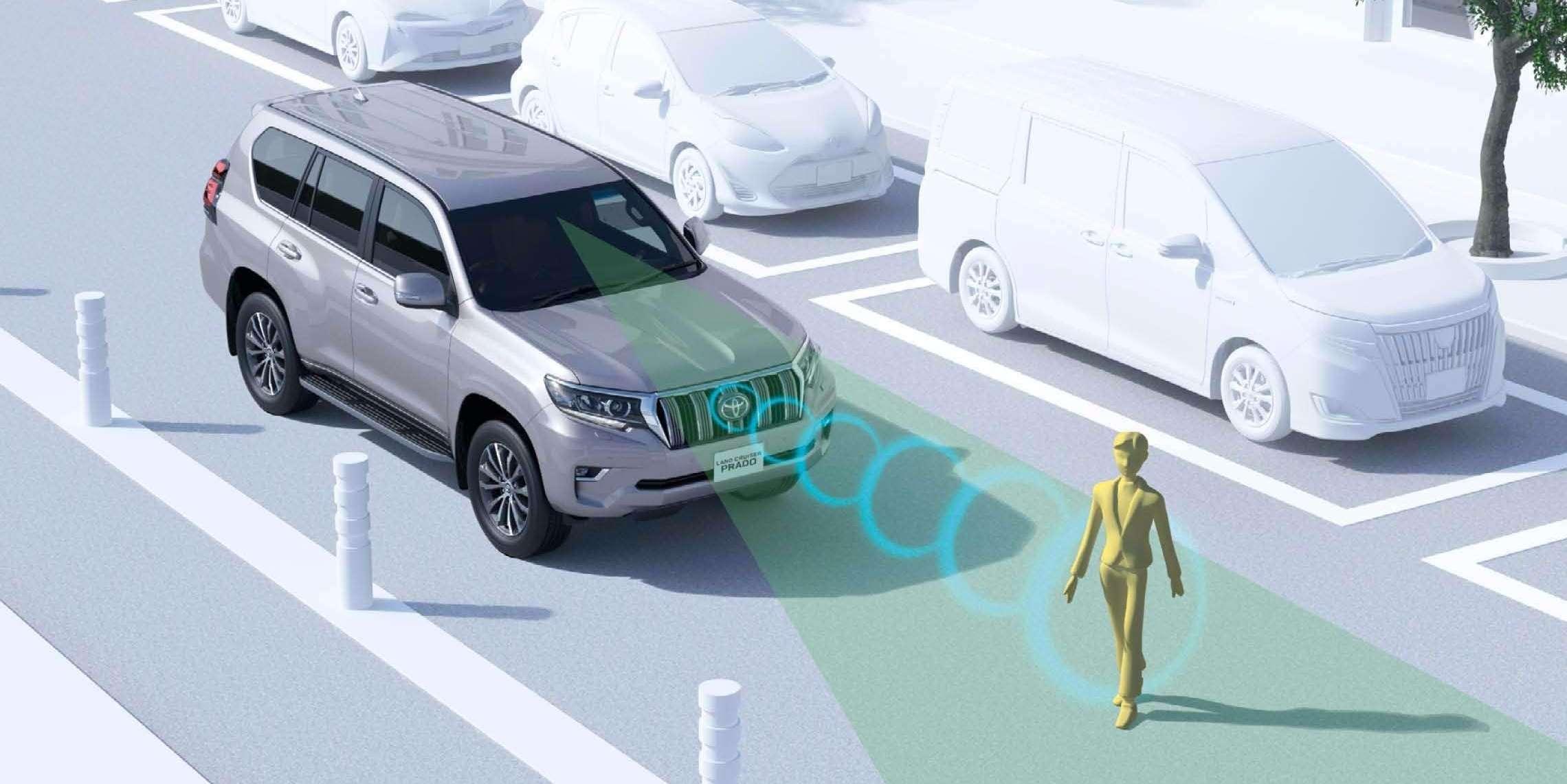 自動ブレーキ:プリクラッシュセーフティシステム(歩行者検知機能付衝突回避支援タイプ/ミリ波レーダー+単眼カメラ方式)